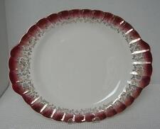 MANDARIN MAROON Sebring Pottery OVAL SERVING MEAT PLATTER K-S 384 22K Gold Trim
