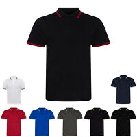 AWDis Just Polos Unisex Plain Stretch Tipped Collar Short Sleeved Polo Shirt Top