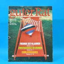 Guter Rat 2-1985 Verlag für die Frau DDR Sossen Stereo-Steuergerät Haarpflege A