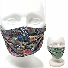Floral Handmade Face Mask 100% Cotton Flowers Washable Reversible Reusable