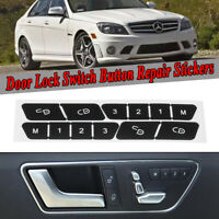 Vaorwne for Mercedes C-Class E-Class GLK W204 W207 W212 Car Door Lock Switch Button Door Lock Switch Left