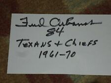 Fred Arbanas 1965 KC Chiefs Signed 3x5 index Card