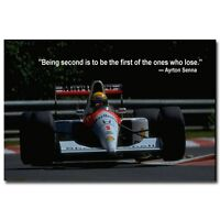 Ayrton Senna da Silva Motorsport Silk Poster Art Print 13x20 inch 003