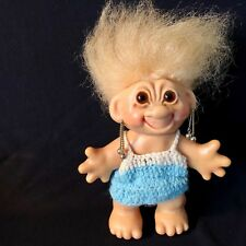 """THOMAS DAM Blond Haired Brown Eyed Girl 6"""" TROLL DOLL"""