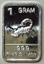 "/"" US TANK /"" Best Junk Drawer 1 Gram .999 Fine Solid Silver Bullion New Art-Bar"