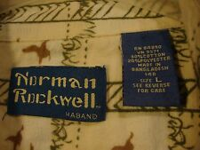Norman Rockwell by Haband Long Sleeve Flannel Shirt Men's Large Flying Ducks