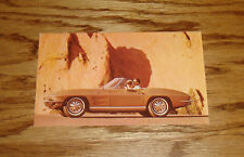 1964 Chevrolet Corvette Sting Ray Convertible Post Card 64 Chevy