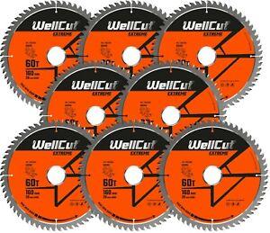 8 x WellCut TCT Saw Blade 160mm x 60T x 20mm Bore Suitable For Festool TS55 HK55