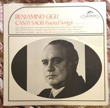 Beniamino Gigli ‎– Canti Sacri (Sacred Songs) (Recorded 1932-47) LP 1967 Vinyl