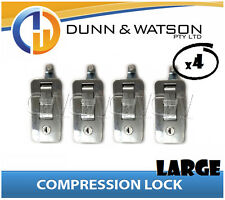 Large Chrome Compression Lock / Handle / Latch (Pop Omega Trailer Canopy ) x4