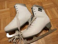 Damen/Mädchen Eiskunstlauf- Schlittschuhe-Eislaufschuhe, weiss Gr.39, Kunstleder