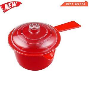Microwave Saucepan Time Saving Micro Wave Sauce Pan 600ml, Red, 14 x 12 x 21cm