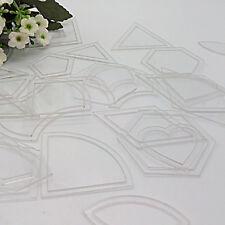 54pcs Acrylic Quilt Quilting Template Ruler DIY Tool for Patchwork Craft DIY