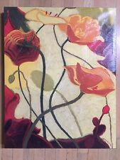 Pumpkin Poppies by Shirley Novak Painting Print on Wrapped Canvas 28 x 22