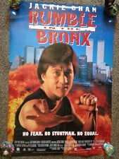 JACKIE CHAN POSTER RUMBLE IN THE BRONX DOUBLE SIDED 2 POSTERS IN 1