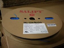 """Salipt Heat Shrink Tubing 2:1, Blue 1mm (3/64"""")wide x 200m(656ft) long reel"""