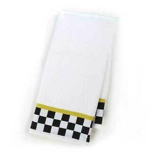 """NEW MacKenzie Childs Black & White Check cotton Hand Towel 20"""" x 31,5"""""""