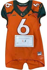 Miami Hurricanes Game Worn Nike Jersey Jamal Carter Herb Waters 2014 Game Used