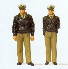 Preiser 63100 Polizisten stehend grüne Uniform BRD Spur I Maßstab 1:32 OVP
