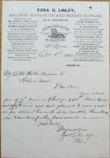 St. Louis, MO 1889 Letterhead: Railroad/Railway & Mining Supply, Machinists