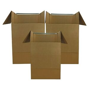 """UBoxes Large Corrugated Wardrobe Moving Boxes, 24"""" x 24"""" x 40"""",3-Count FAST SHIP"""