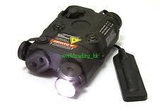 Airsoft Dummy PEQ 15 LED Flashlight + Green Laser + Wire Remote Control (BLACK)