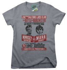 Smiths Inspired Morrissey VS Marr Fight Poster Women's T-shirt Large Heather Grey