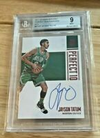 2017 Panini Encased Perfect 10 RED Jayson Tatum ROOKIE RC AUTO /25 BGS 9 Auto 10