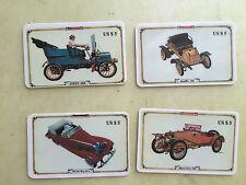lotto 4 schede telefoniche usate usa tema auto d'epoca