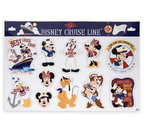 Disney Cruise Line Captain Mickey and Crew Stateroom Door Magnet Set New Sealed