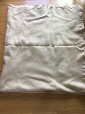 "Lands End ""Coming Home"" 100%  Wool Heavy Warm Blanket Ivory Full 95x80 Nice"