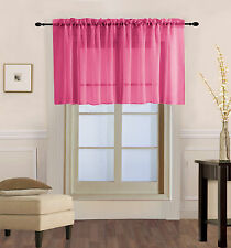 1PC Voile Sheer Straight SMALL Window Valance Topper Waterfall Rod Pocket V16