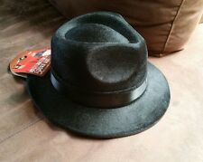 Local Pick up only Adult Gangster black Fedora Costume Hat 20s NOVELTY