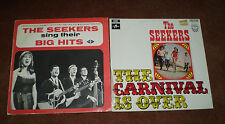 THE SEEKERS SING THEIR BIG HITS & THE CARNIVAL IS OVER VINYL 33 RPM  LP RECORDS