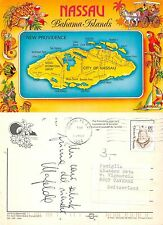 Nassau - Bahama Islands MAP Long Cay Athol Paradise Cay Point Clifton (A-L 628)