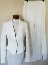 Bebe Addiction Suit Jacket Pant Cream Beige 8
