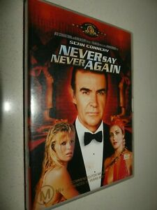 Never Say Never Again dvd Region 4  with tracking