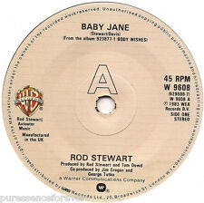 "ROD STEWART - Baby Jane (UK 2 Track 1983 7"" Single)"