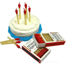 "Matchstick Candles - Set of 12 2.75"" Tall Novelty Fun Birthday Party Candles"