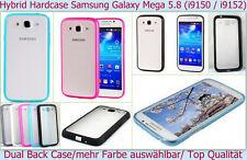 Dual Hard Case Bumper Cover Samsung Galaxy Mega 5.8 Tasche Etui Schutz hülle NEU
