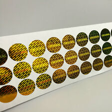 100 Original Gold Hologram Sticker, Warranty and Safety seal label Stickers