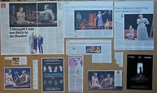 The Glass Menagerie - various theatre clippings & 1 leaflet flyer