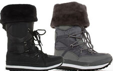Womens Ladies Wellies Winter Flat Ski Fur Moon Rain Snow Boots Size 3 4 5 6 7 8