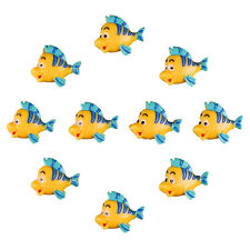 10 pcs The Little Mermaid Flounder Fish Resin Flatback Scrapbooking Crafts DIY