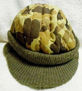 Remington Logo Warm Camo Hunting Hat Cap Size 7-9 Fleece Interior