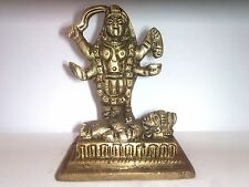 Small Brass Goddess Maa Kaali,Maa Kali Shiva Alter  Meditation Durga idol+ Shipp