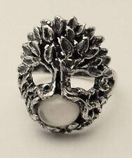 Celtic TREE of LIFE Ring .925 Sterling Silver Sz 6 w/ genuine Moonstone gem