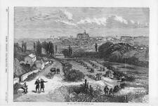 1870 FRANCO GERMAN WAR View of METZ & CATHEDRAL Thionville Road (055)