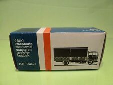 LION CAR 58 DAF TRUCKS 2800 CURTAIN SIDE - 1:50 GOOD * ONLY EMPTY BOX * (40)