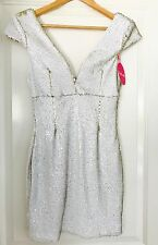 TIGER MIST WOMENS Shot Me Down Sequin Dress Gold Party Evening Lined NWT  Sz M
